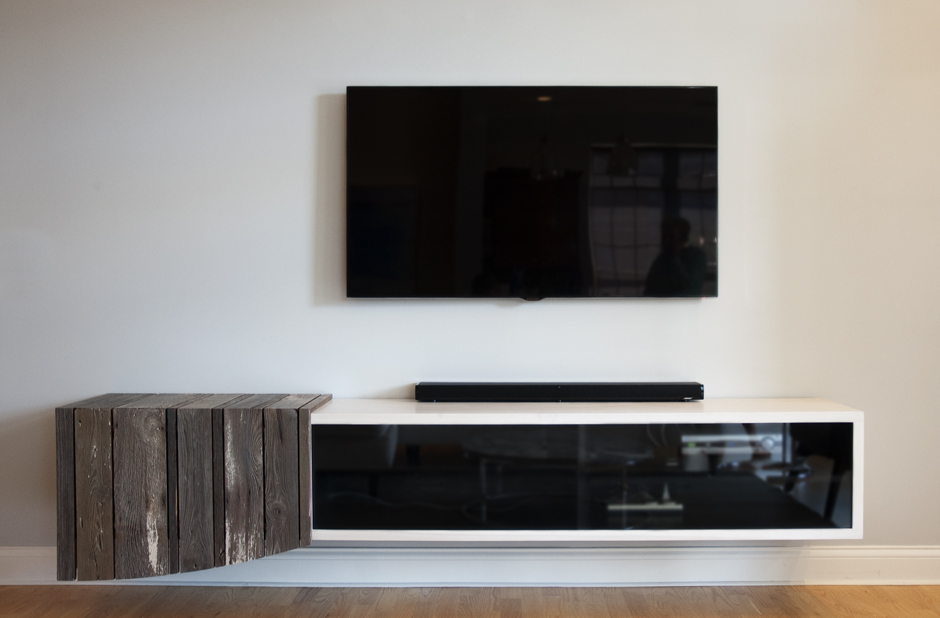Media Cabinet and Custom Frames – Private Residence | nickallmandf